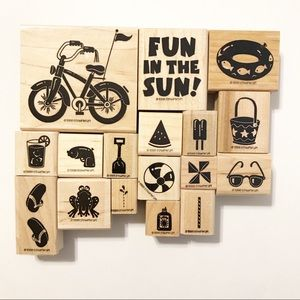 Stampin' Up Retired 1998 Fun in the Sun Stamp set